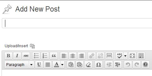 οδηγίες wordpress εισαγωγή post